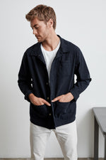 LUCIUS COTTON CANVAS PAINTERS JACKET