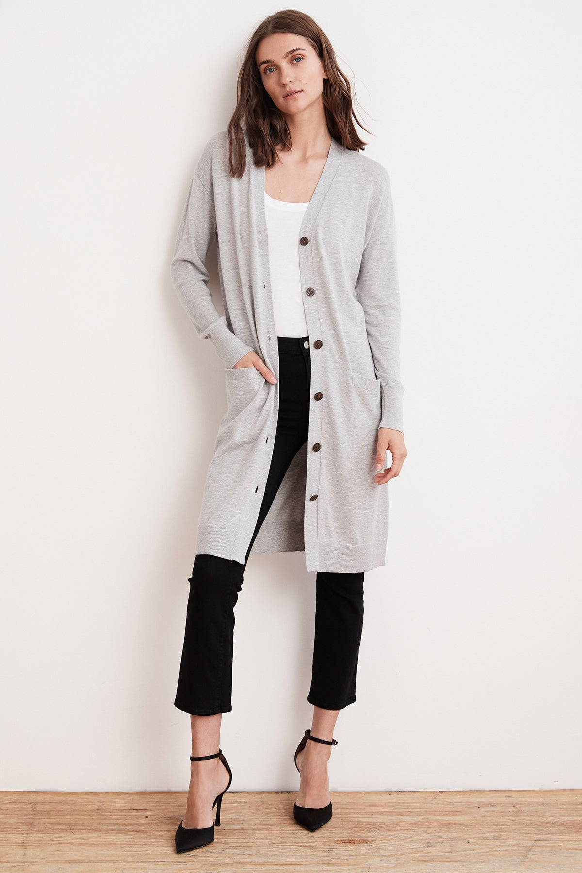 TANIA LIGHTWEIGHT COTTON CASHMERE DUSTER CARDIGAN