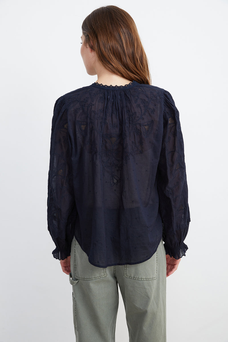 GALA BUTTON-UP BLOUSE