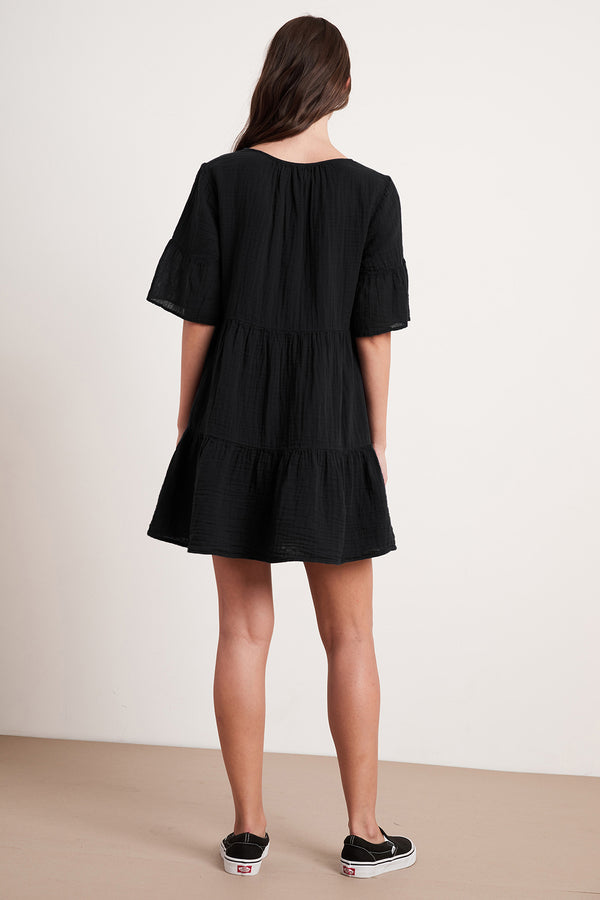CHESNEY COTTON GAUZE RUFFLE DRESS