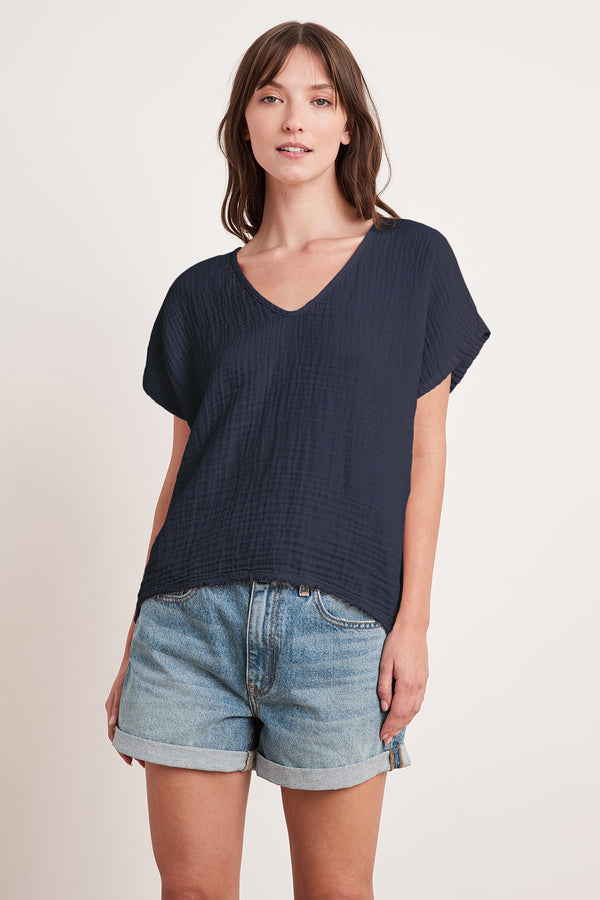 ELSA COTTON GAUZE TOP