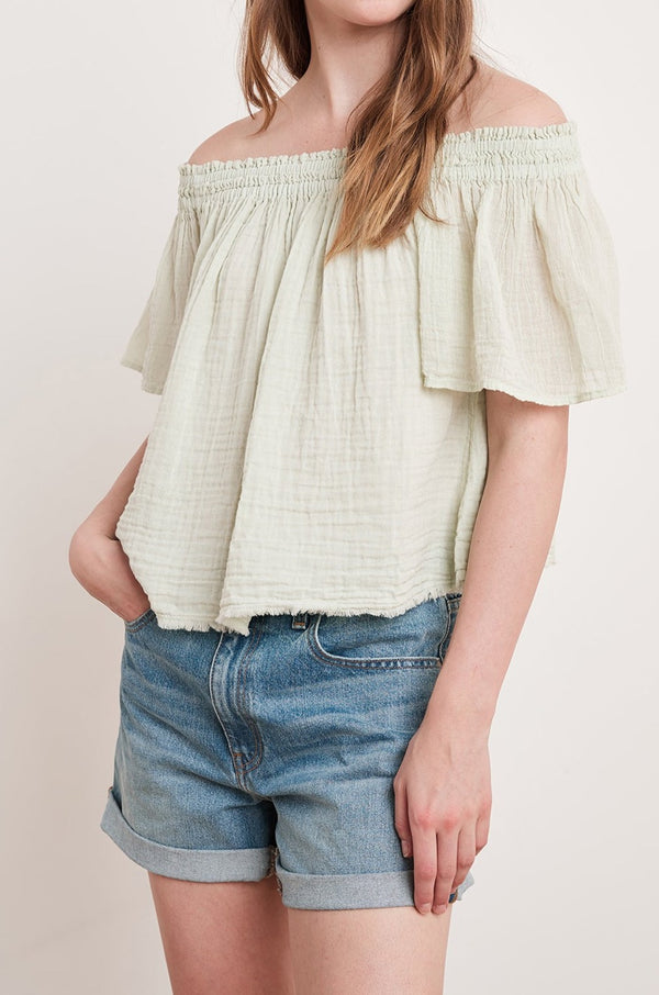 JULIE COTTON GAUZE TOP