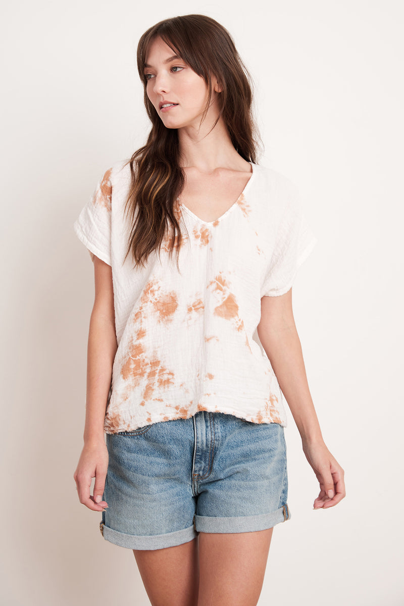 MARCI COTTON GAUZE TIE DYE TOP
