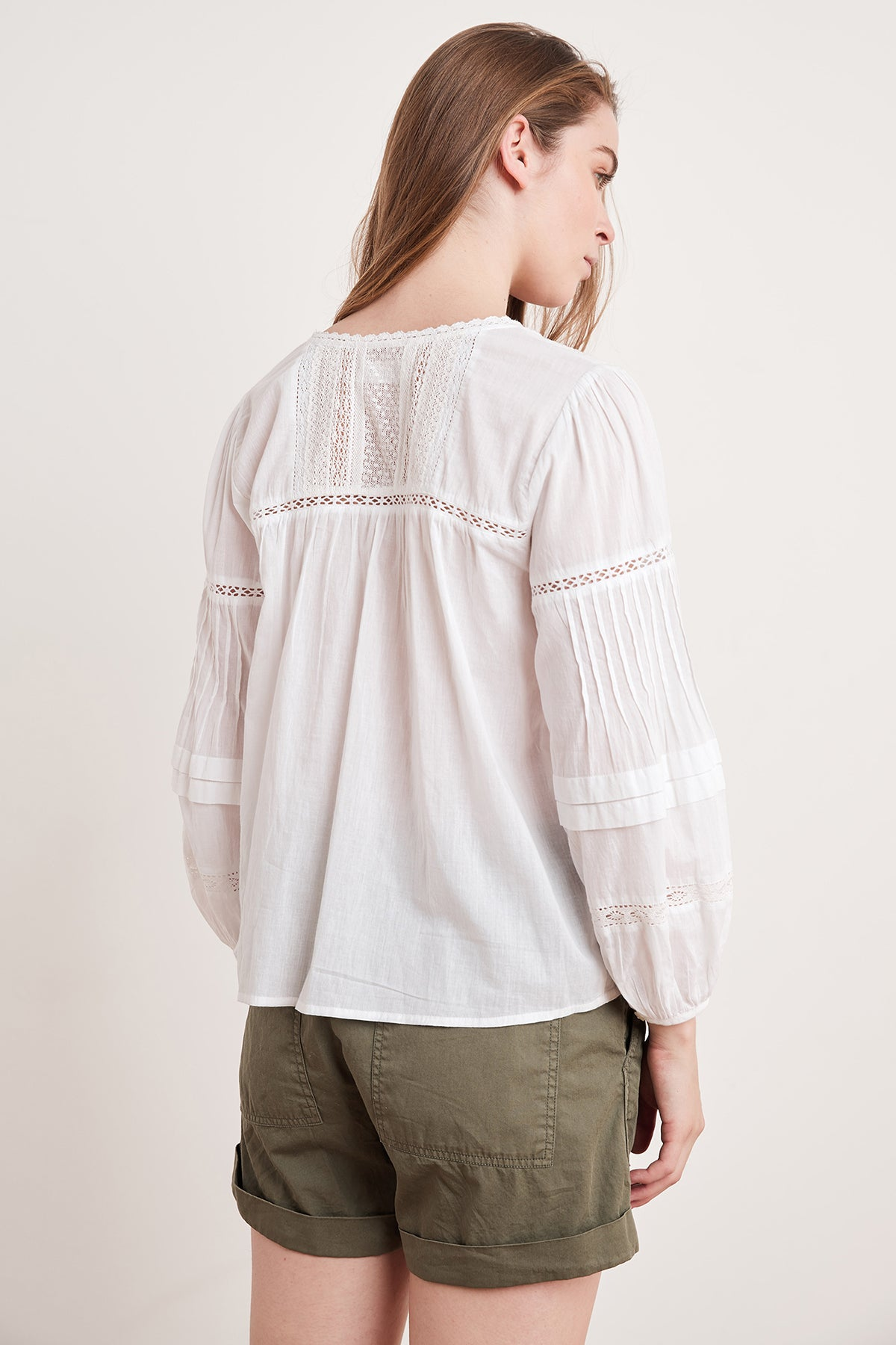 PIA COTTON LACE BLOUSE