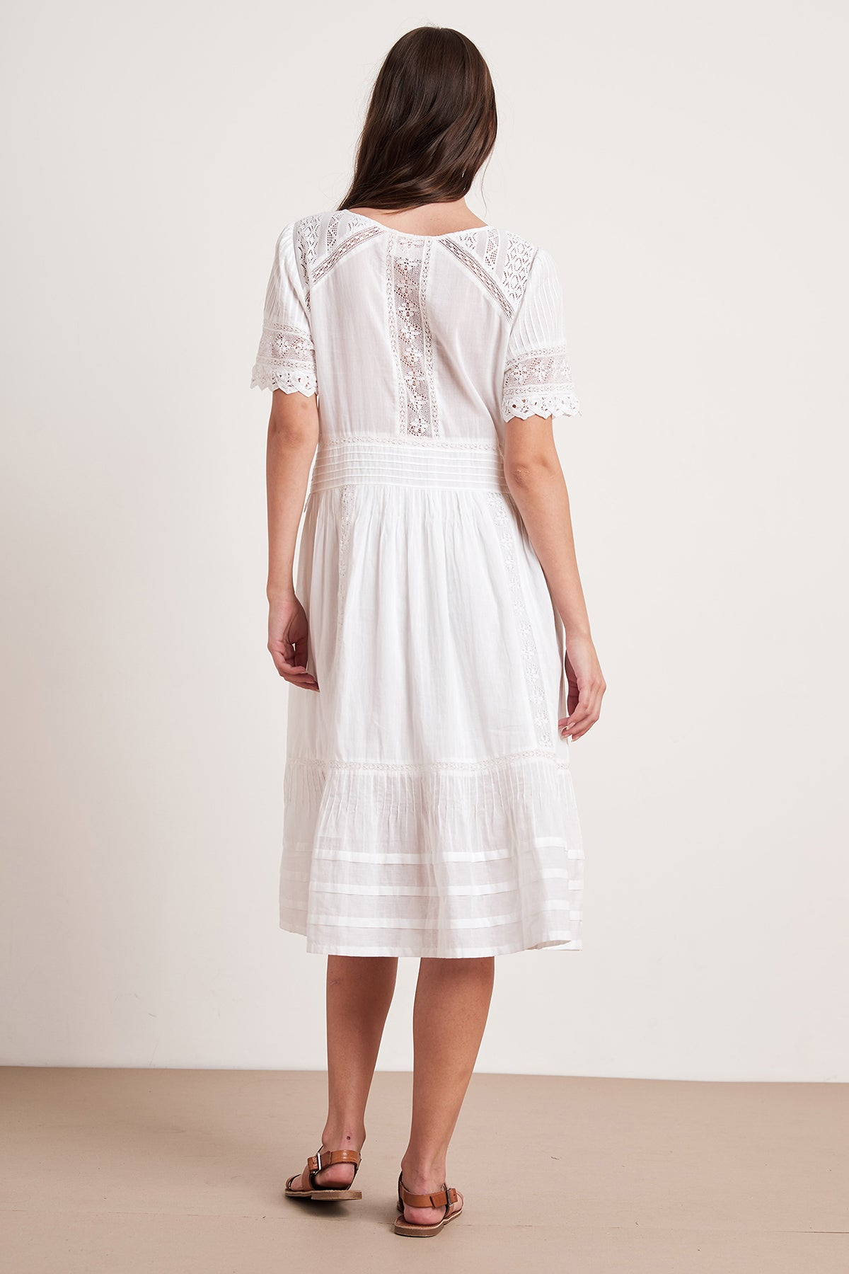 SURI COTTON LACE BUTTON-UP DRESS