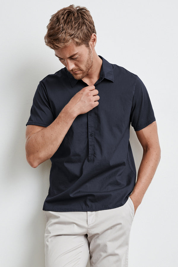 BURR COTTON POPLIN CONTRAST POLO