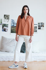 PENNY COTTON POPLIN BLOUSE