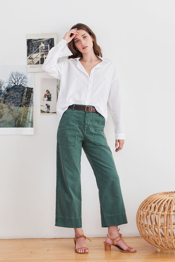 PEGGY COTTON CANVAS TROUSER