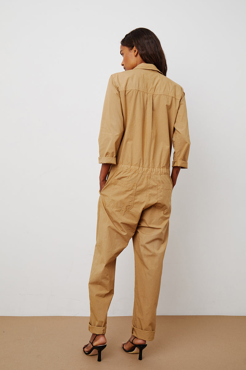 SAYLOR COTTON POPLIN JUMPSUIT