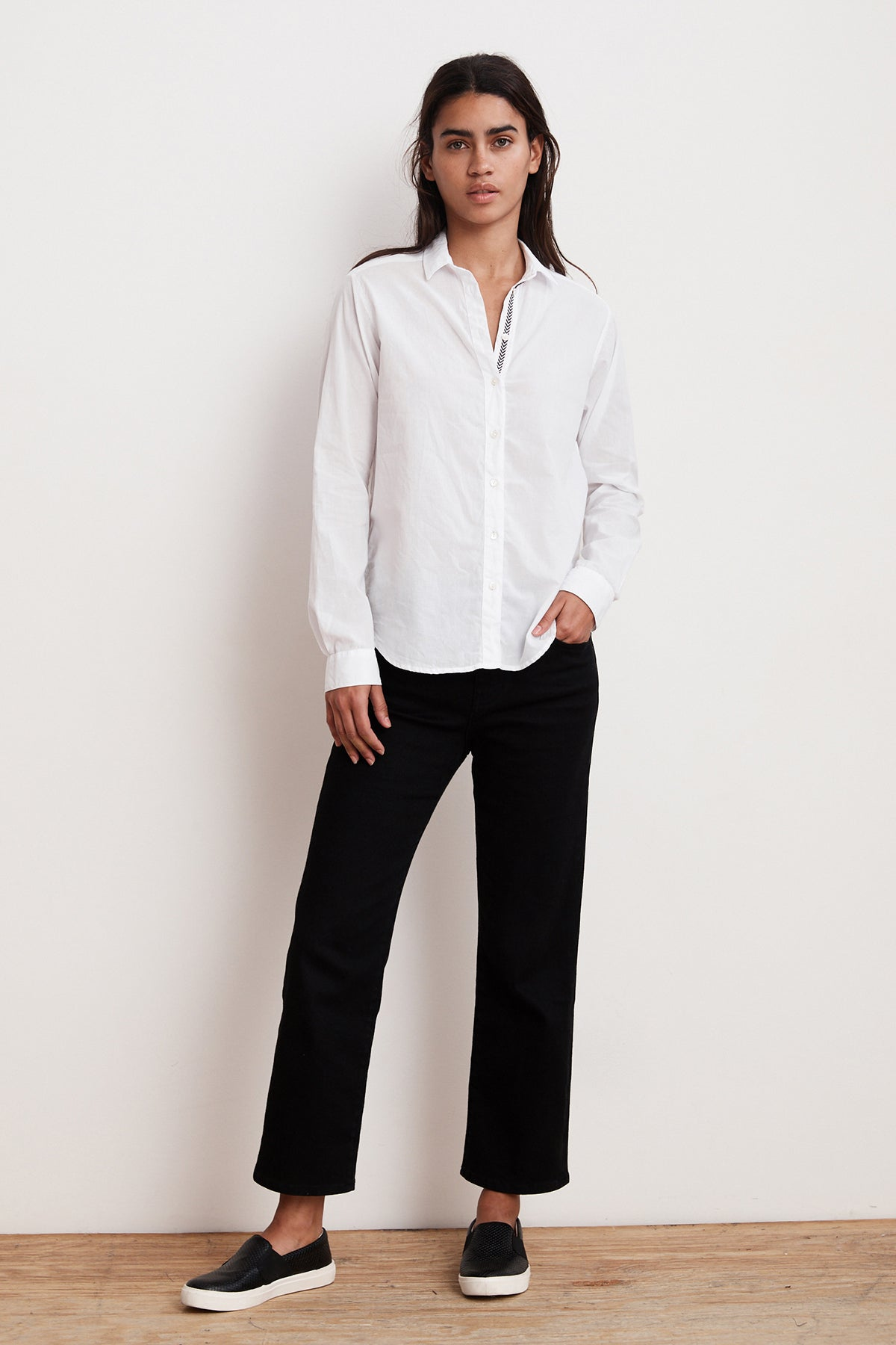 ELEANORA COTTON BUTTON UP SHIRT
