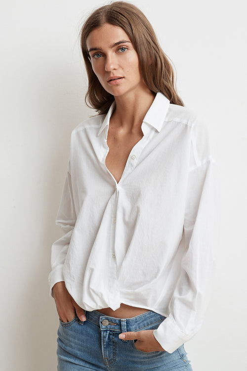 ASTRID COTTON BUTTON UP SHIRT