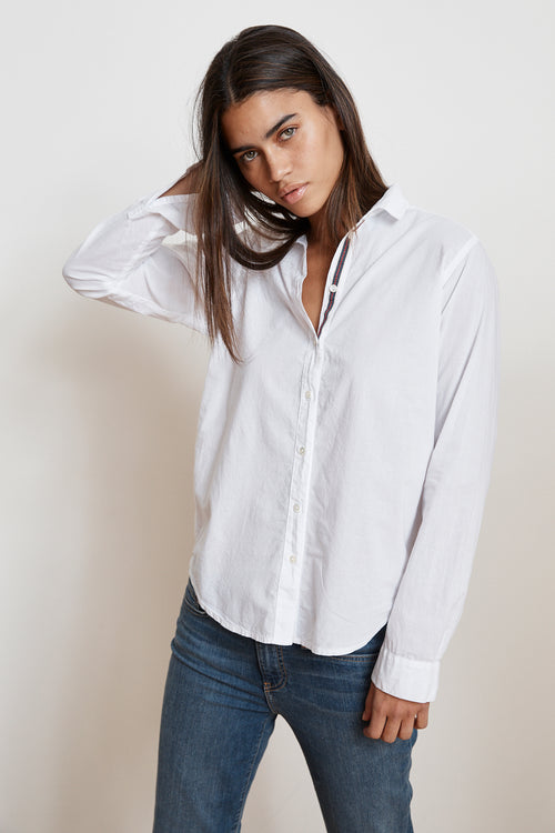 CANDRA COTTON BUTTON UP TOP