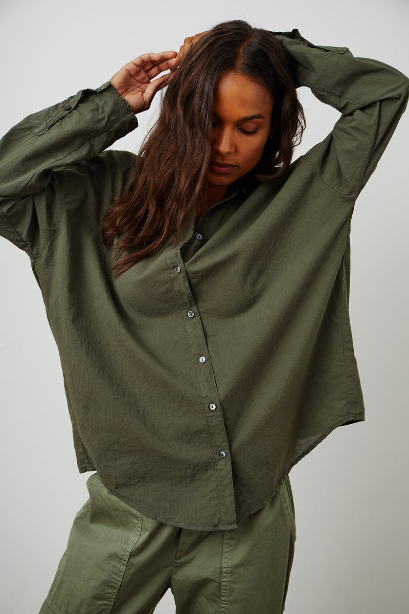 Devyn Shirt Thicket Misty Pant Sage Front