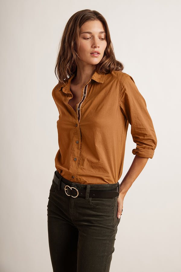 NINA RELAXED BUTTON-UP SHIRT
