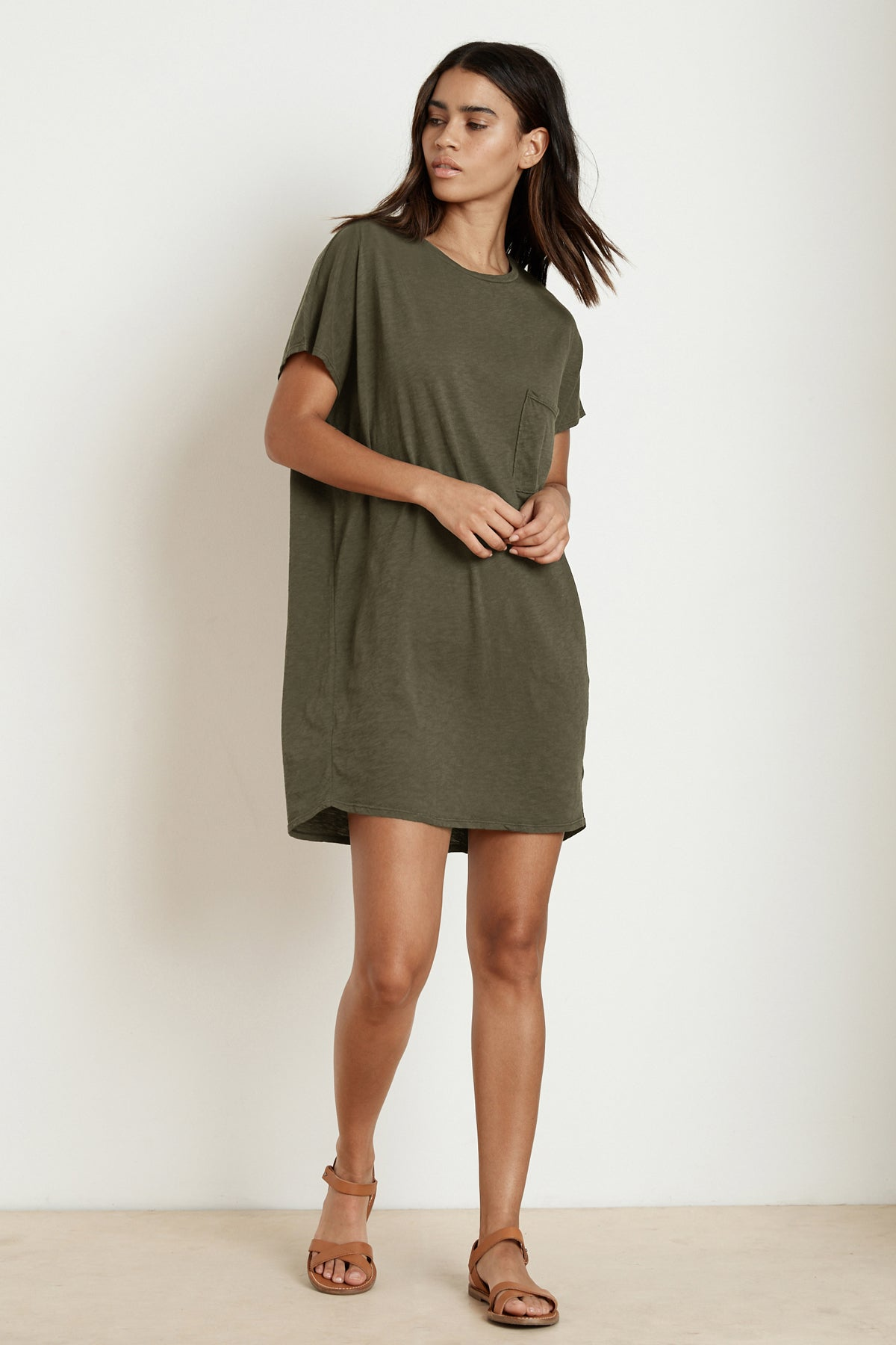 ANNIE COTTON SLUB T-SHIRT DRESS