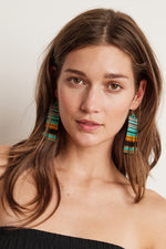 FREYA BEADED FRINGE EARRINGS BY BLUMA PROJECT