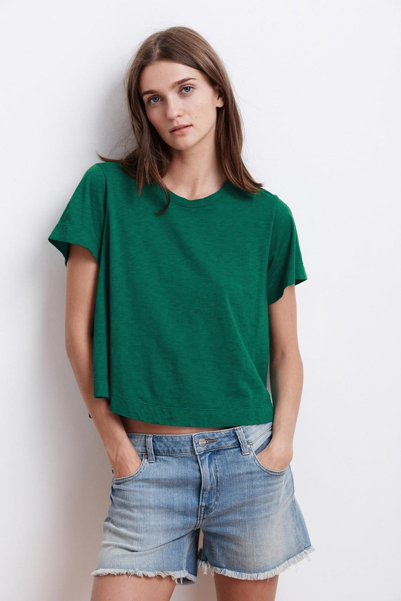 LULA COTTON SLUB SWING TEE