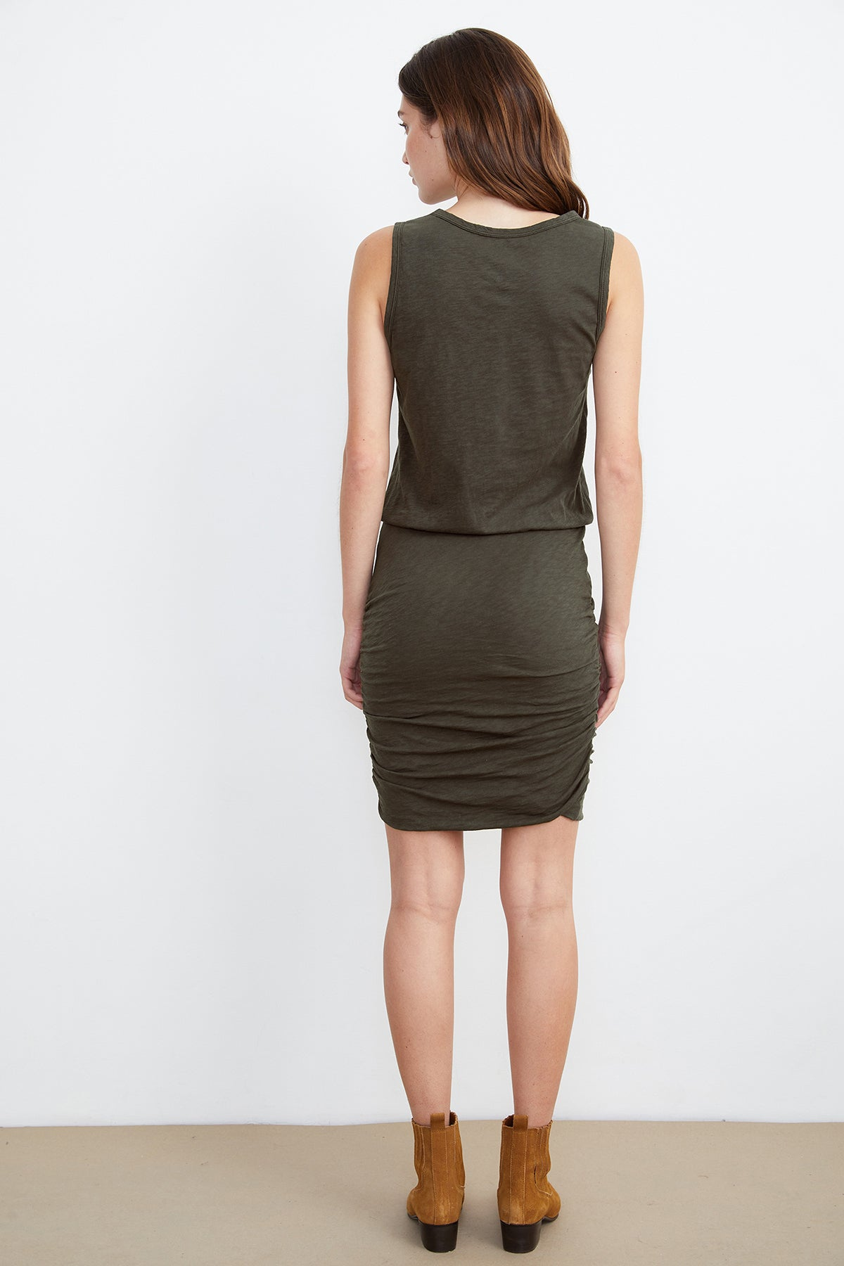 MACEY COTTON SLUB MIX TANK DRESS