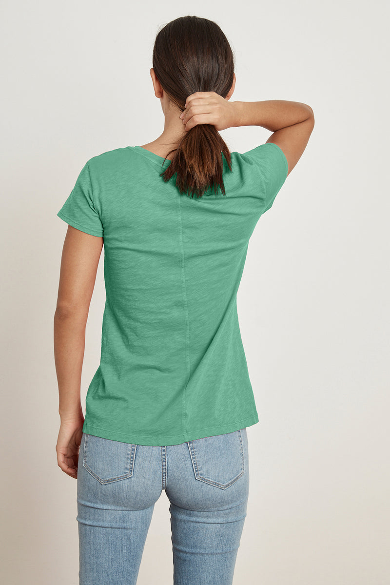 ODELIA COTTON SLUB SHORT SLEEVE TEE