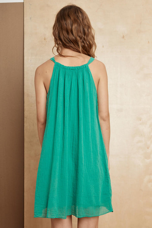 PARISA COTTON SLUB MIX TANK DRESS