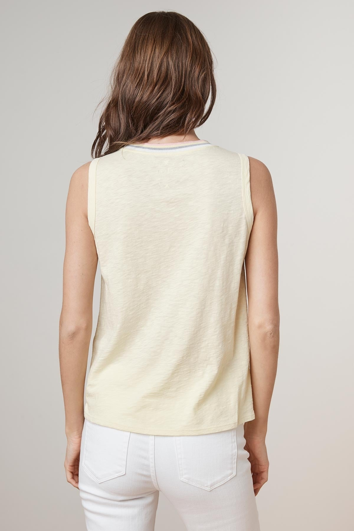 SORA COTTON SLUB RIBBED NECK TANK