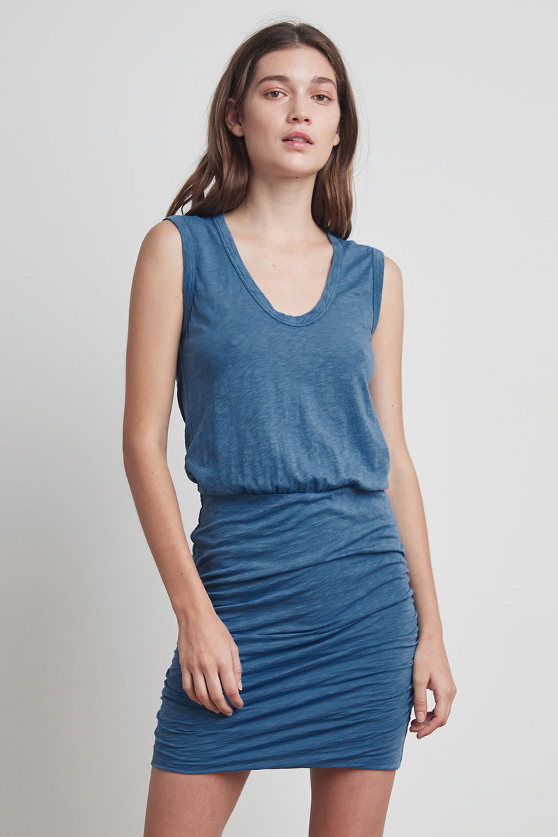 THEODORA COTTON SLUB TANK DRESS