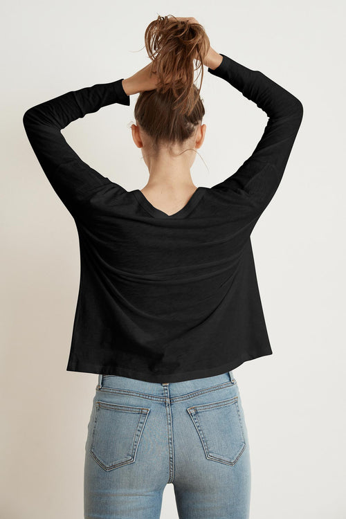 YARROW COTTON SLUB LONG SLEEVE POCKET TEE
