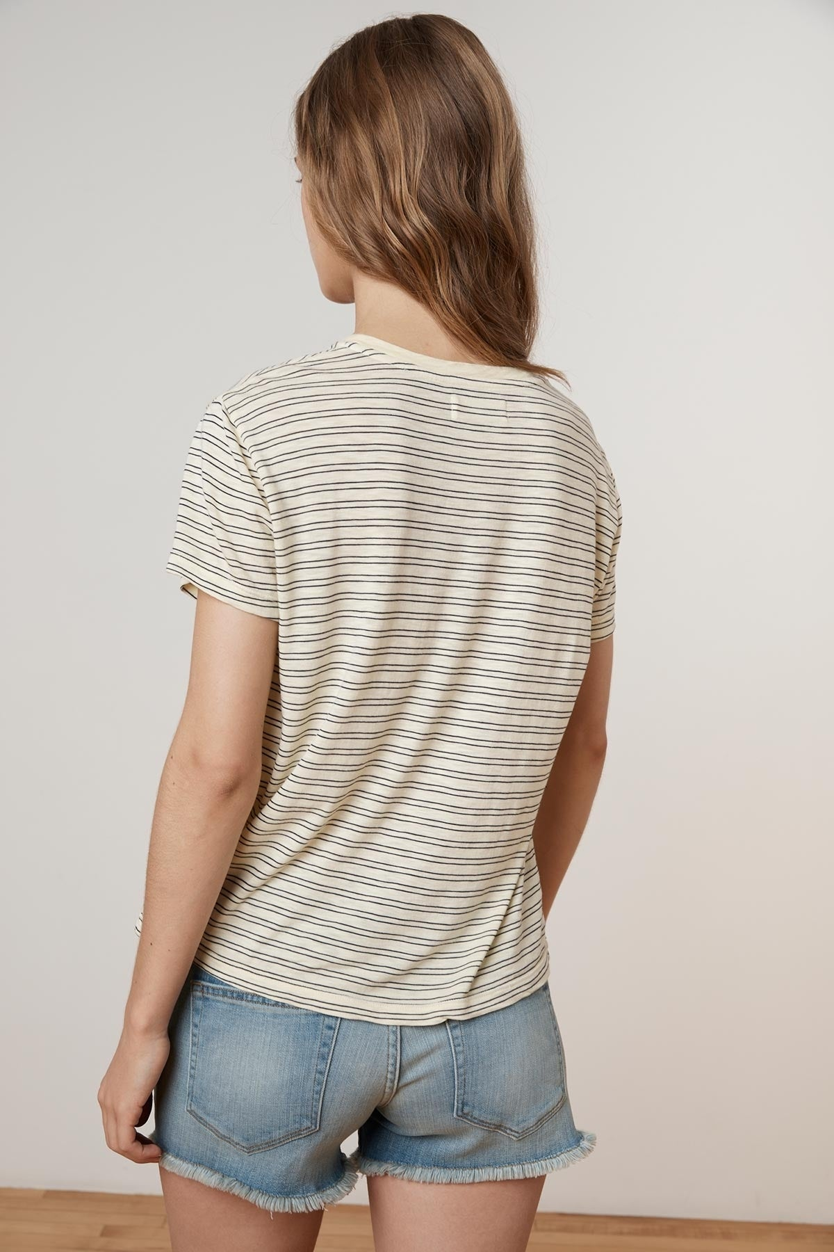 PORTER STRIPE COTTON KNIT CREW NECK TEE