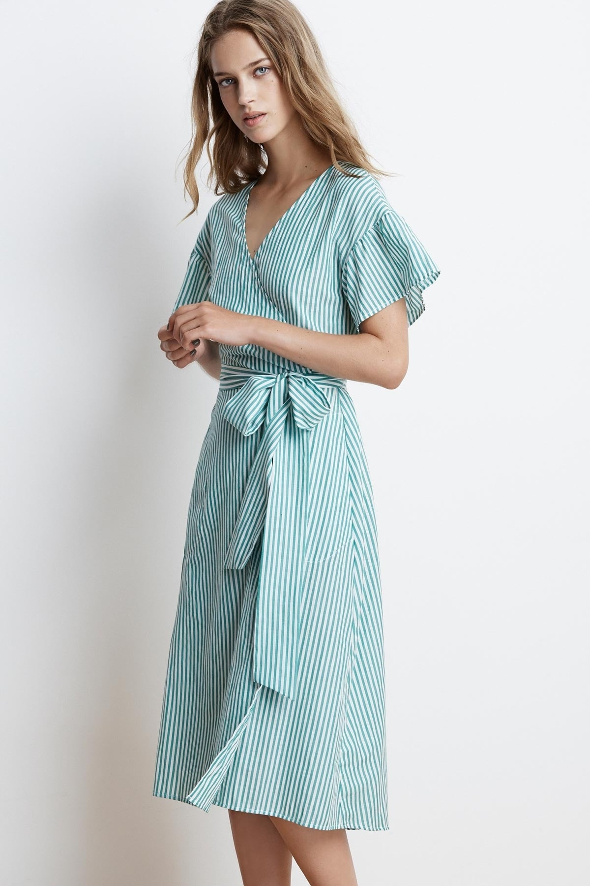 Stripe Dress with Sleeves