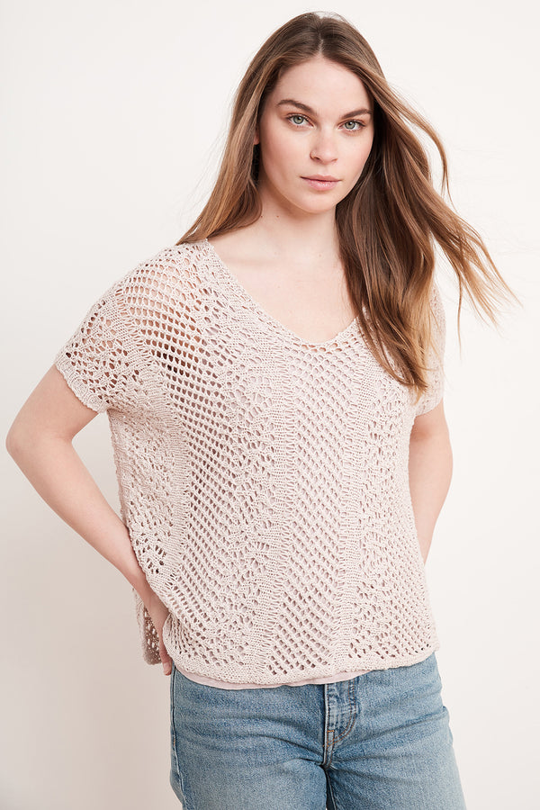 CAELAN COTTON BLEND SWEATER