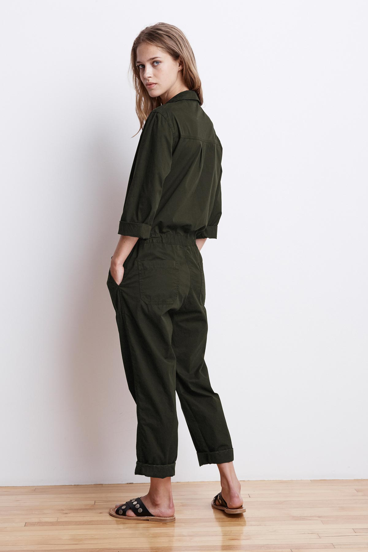 SAYLOR COTTON TWILL BUTTON UP JUMPSUIT