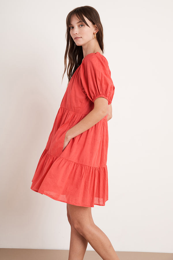 RENELLE PUFF SLEEVE DRESS