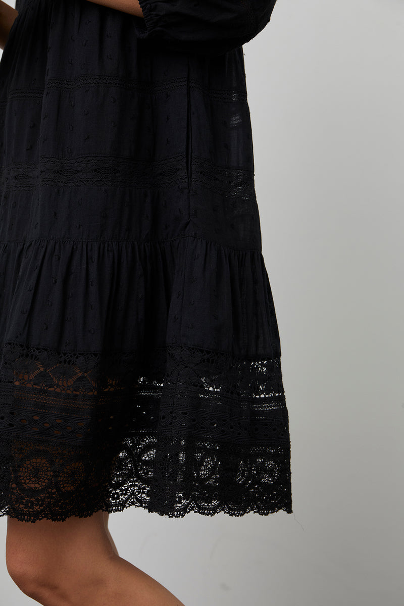 Dorothy Dress Black Lace Detail