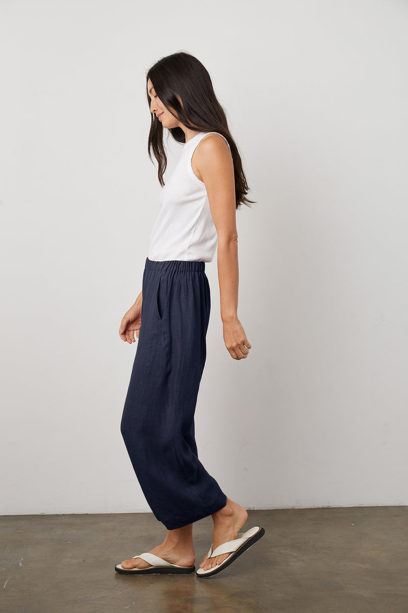 Lola Pant Navy Maxie Tank Side