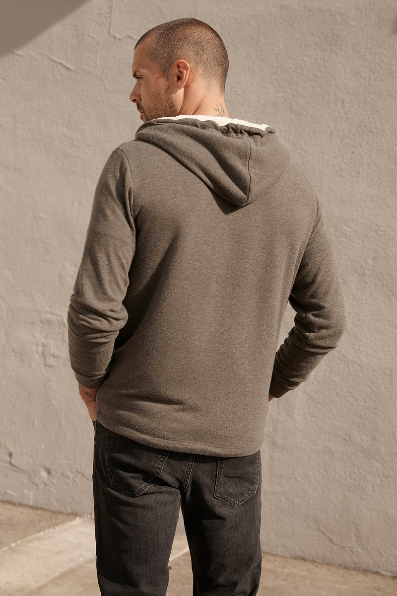 SALVADORE SHERPA LINED HOODIE