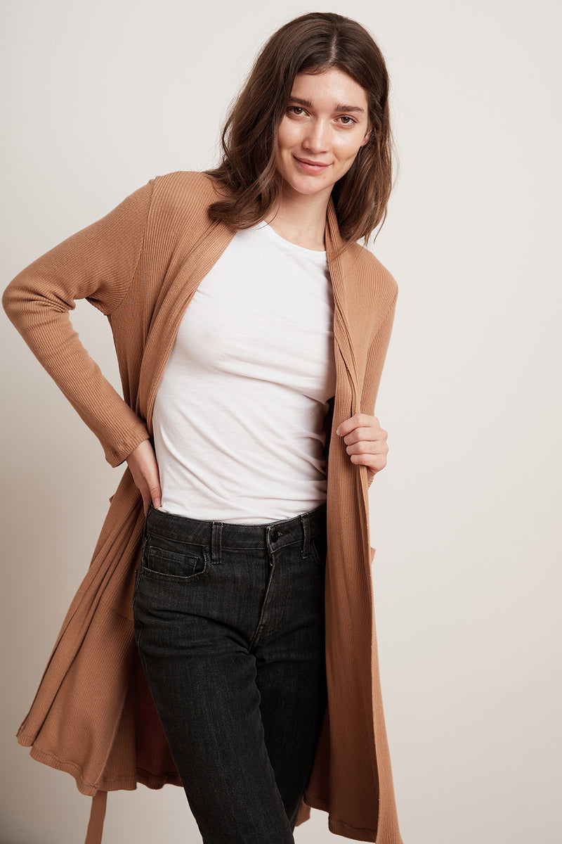 CARRIE COZY RIB BELTED CARDIGAN