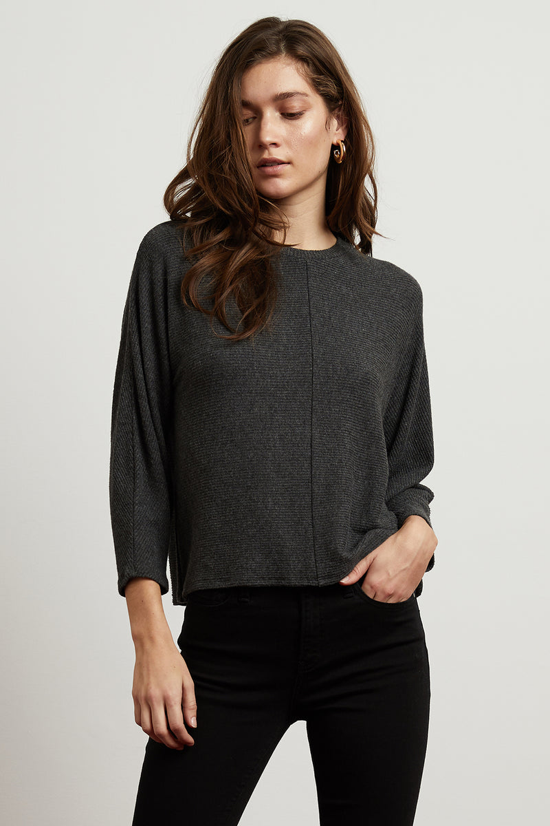 DESI COZY RIB CREW NECK TOP