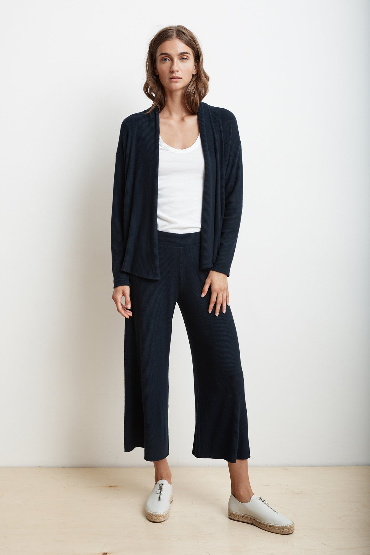 MONICA COZY RIB WIDE LEG JOGGER