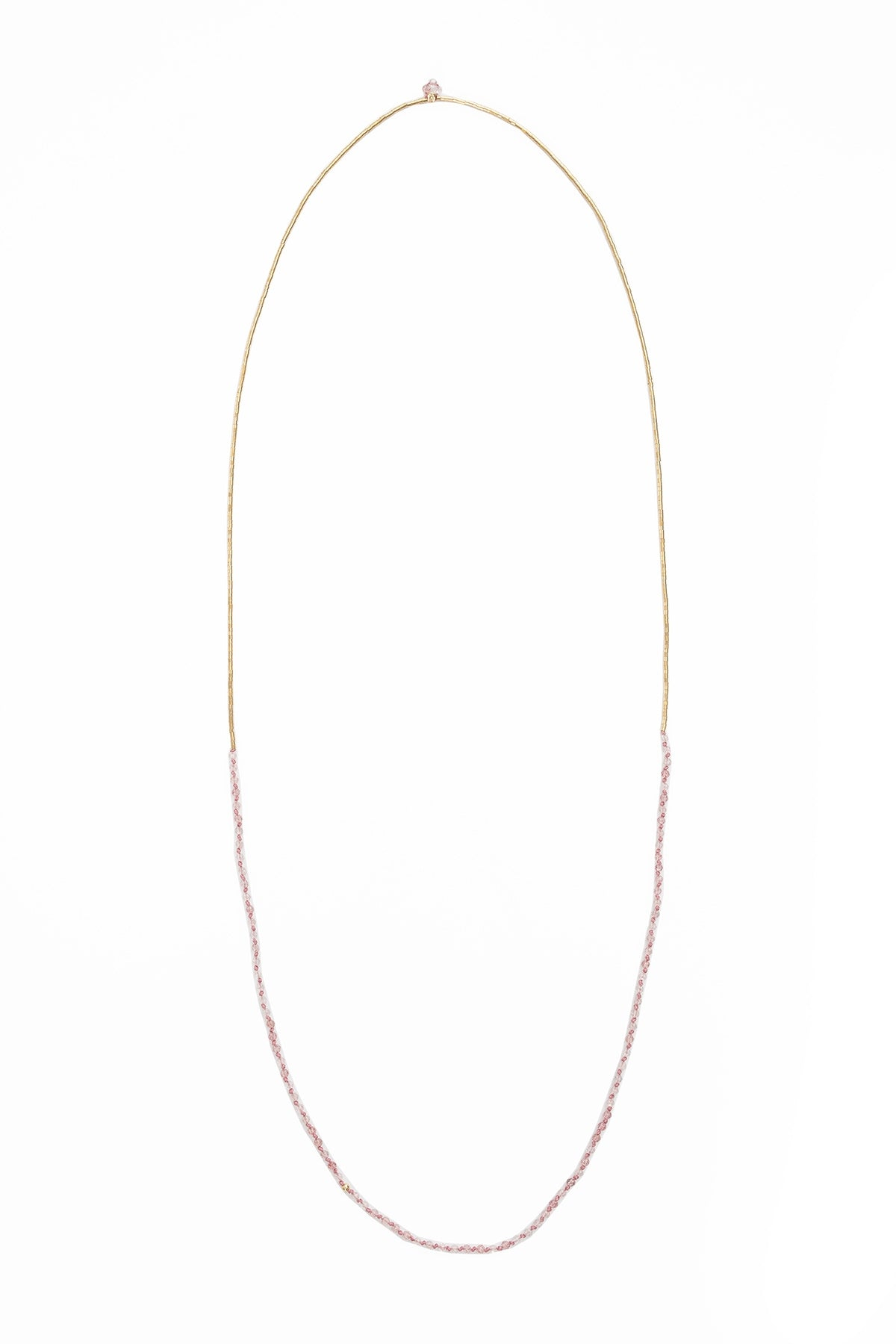 DRIFT KNOTTED STRAWBERRY QUARTZ NECKLACE BY ILD