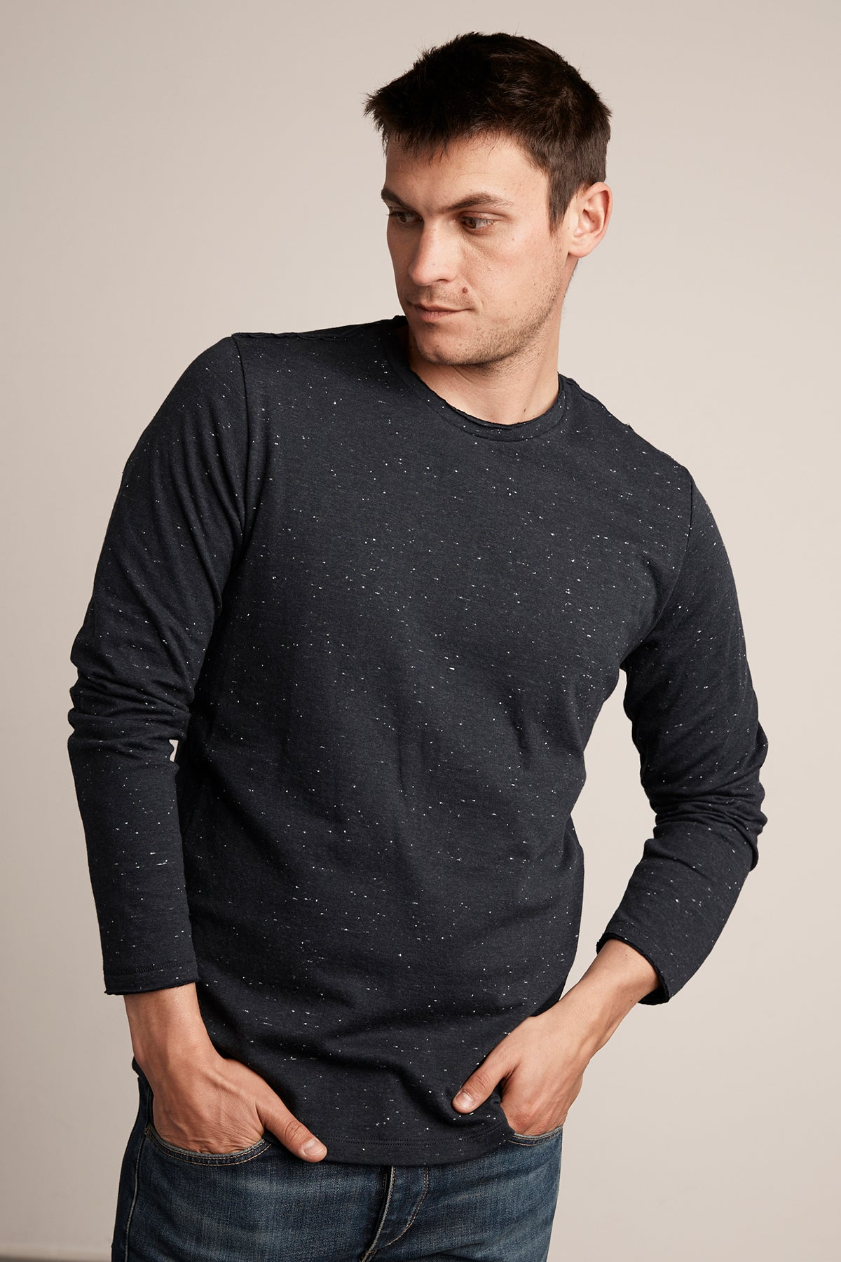 GUILLERMO DOUBLE FOLD LONG SLEEVE TEE