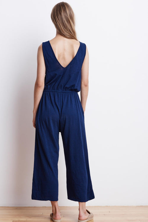 AUBRIELLA COTTON SLUB SLEEVELES JUMPSUIT