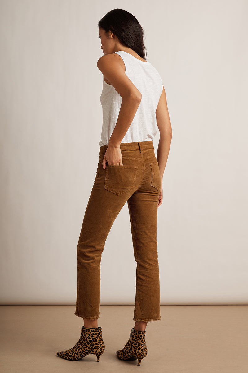 CANDACE CORDUROY HIGH RISE CROP JEAN