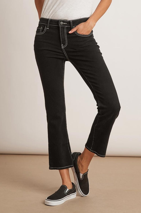 KAIA MID RISE CONTRAST STITCHING CROP JEAN