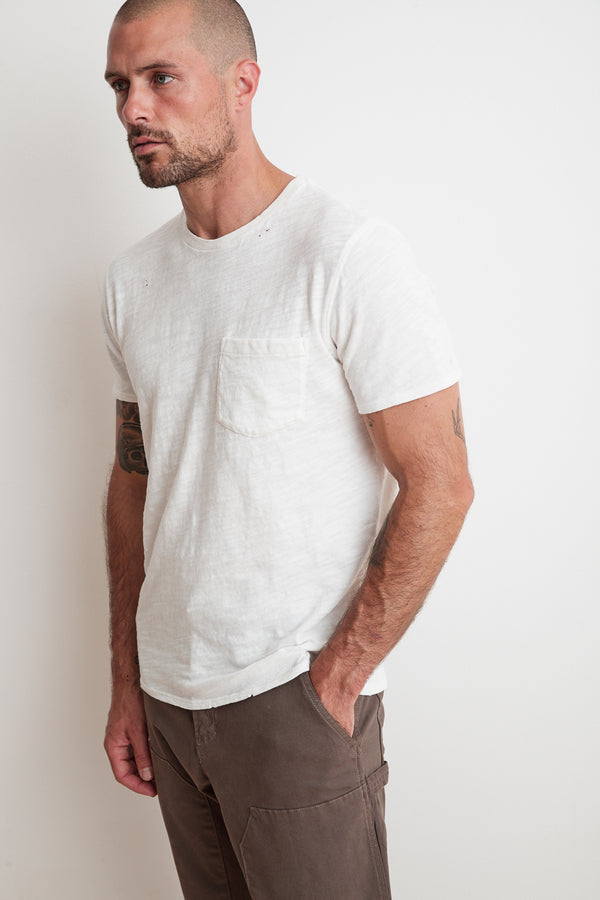 DAVY DISTRESSED SLUB TEE