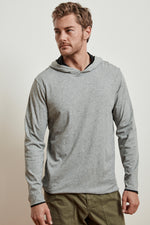 NICKOLAS REVERSIBLE COTTON HOODED TEE