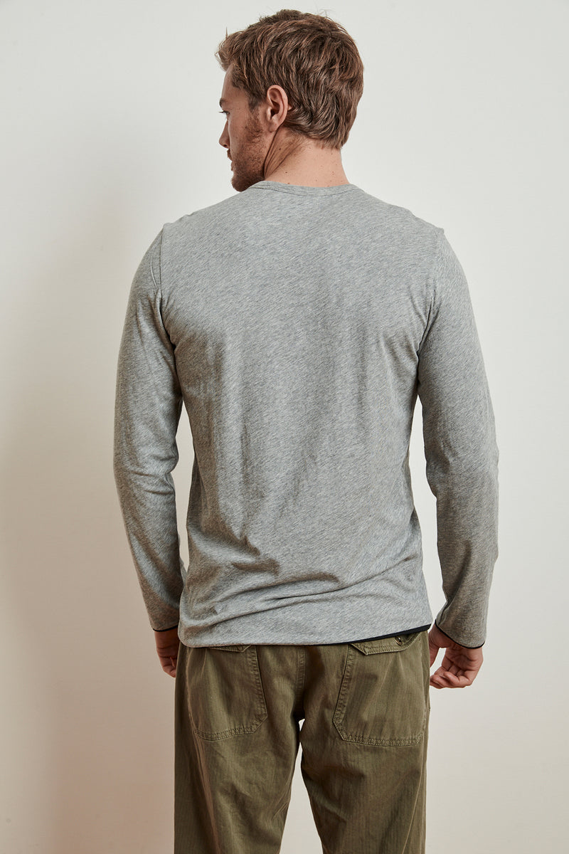 STEPHEN REVERSIBLE COTTON LONG SLEEVE TEE