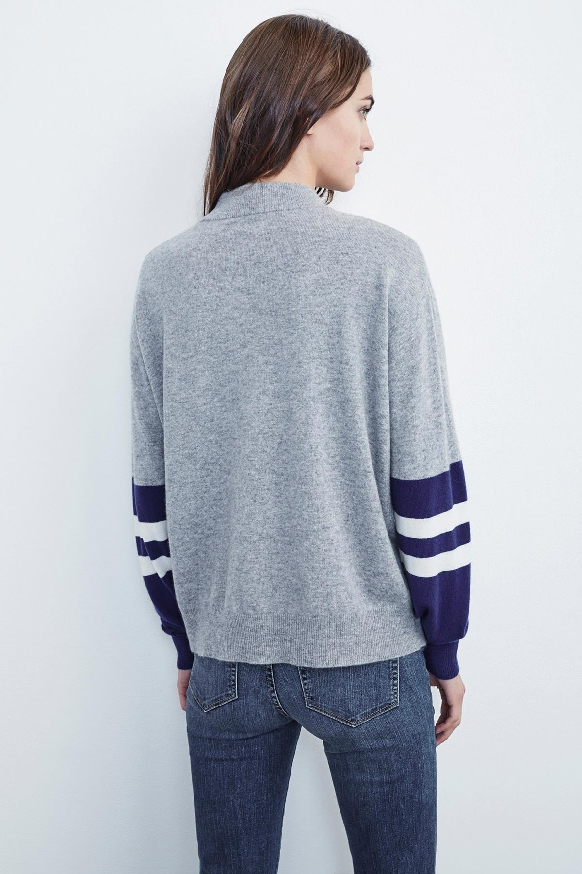 LILIAN MOCK NECK CASHMERE SWEATER