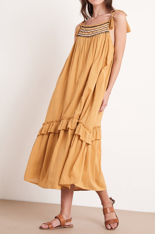VONNIE EMBROIDERED MAXI DRESS