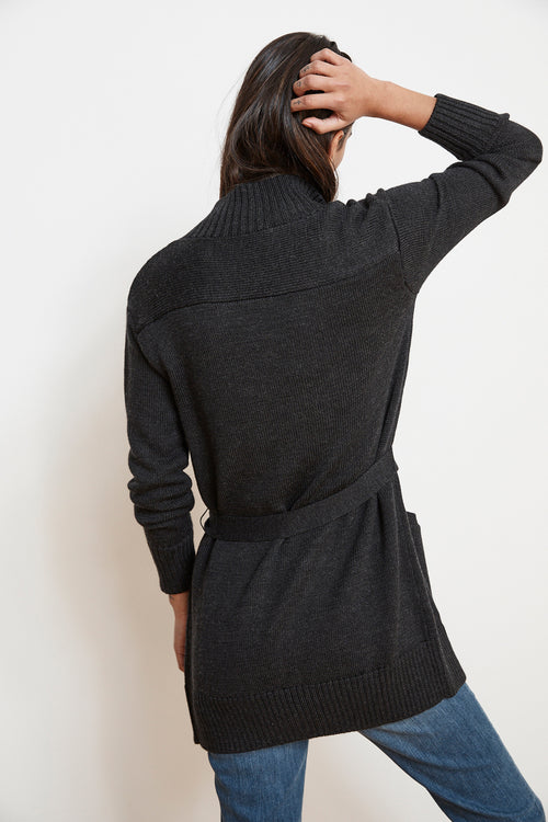 CORRINE ENGINEERED STITCHES CARDIGAN