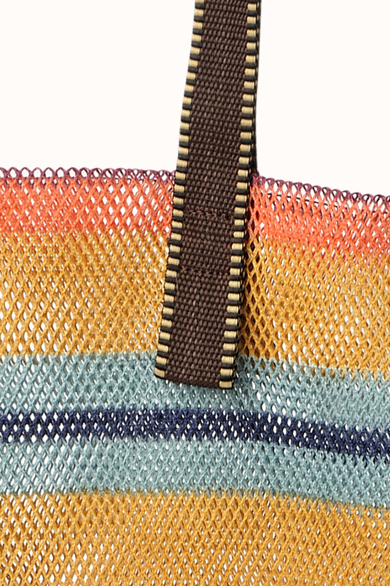 Large Mesh Tote by Epice Mimosa Detail
